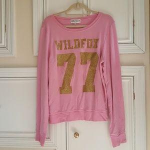 Wildfox 77 gold glitter jumper